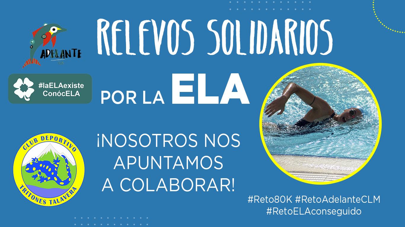 Colaboración en los relevos solidarios por la ELA